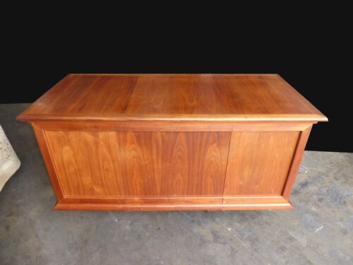 Vintage Mid Century Danish Modern Walnut Six Drawer Writing Desk
