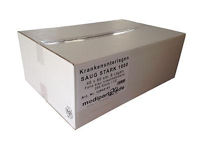 Saug Stark 1000 Krankenunterlagen Inkontinenz Vlies 6 lagig 40 x 60 cm 200 Stück ()