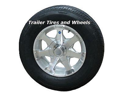 Rainier ST175/80R13 LRC Radial Trailer Tire & Aluminum Wheel Series 06 Silver