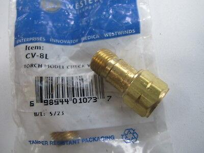 Western Enterprises Cv 8L Torch Model Gas Check Valve 50 Psi