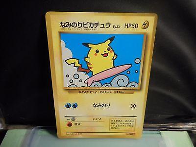 Pokemon JAPANESE  SURFING PIKACHU NO.025 1996 POCKETMONSTERS !! N/M--EX