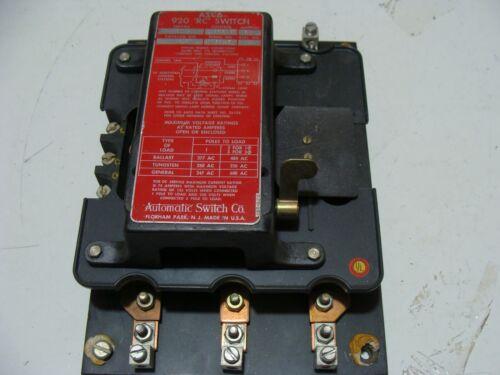 ASCO 920 Remote Control Switch 3P 60 Amp 926P   Good Condition 120v control