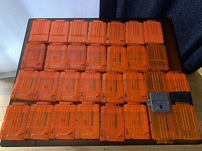 Lot 30 Nerf N-strike Elite 6 Round Dart Clip Magazine Orange + Free Shipping!