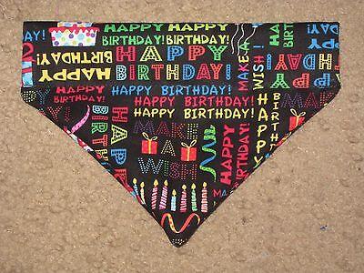 Birthday Wishes Dog Bandana   5 Sizes Xs Xl
