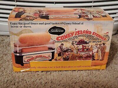 Vintage Sunbeam Coney Island Steamer Frank N Bun Hotdog Bun Warmer 1978 19-29