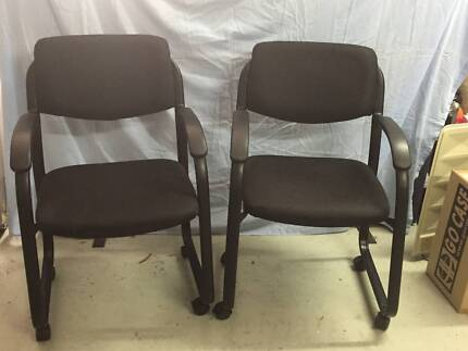 Free two used office chairs Office Chairs Gumtree Australia