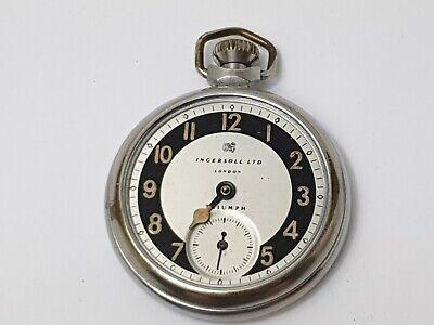 Vintage Ingersoll London Triumph Sub-Dial Pocket Watch for Repair