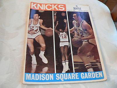 New York Knicks vs Seattle Supersonics Oct 27 1970 Madison Square Garden Program