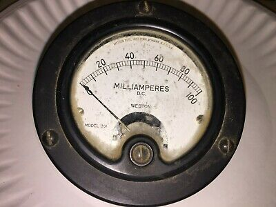 Vintage Weston Panel Meter Dc Milliamperes Model 301 Free Shipping