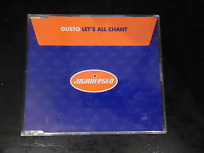 Cd Single   Gusto   Lets All Chant