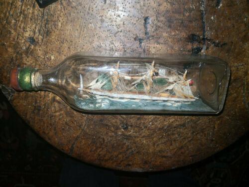 Antique ship in a bottle  AROUND 1890-1920