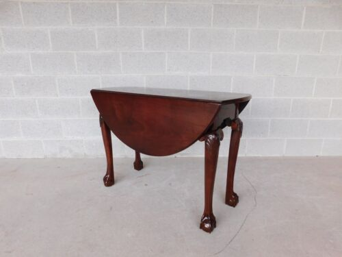 Antique Irish Chippendale 18th Century Mahogany Ball & Claw Foot Drop Side Table