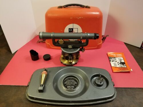 Vintage David White Universal 8114 Level w/ Case Manual and Accessories