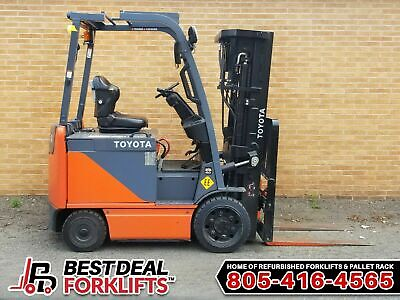 15 Refurbished 2016 Toyota 8fbcu25 Electric 4 Wheel Forklifts 3 Stage Low Hours