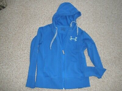 Women's Under Armour STORM 100% Cotton Royal Blue Zip Sweatshirt Medium Hoodie M