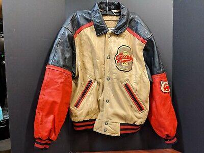 Guess Leather Jacket Men's medium Letterman style
