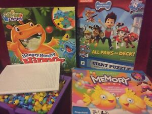 Kid games: hippos, memory, puzzle and others in great condition
