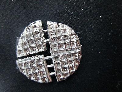 Dollhouse Miniature Unfinished Metal Round Waffle #2