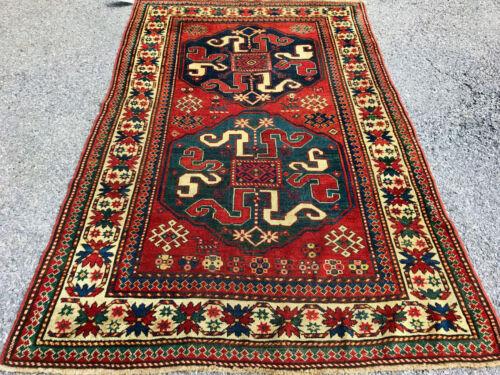 Antique Kazak Rare 1870