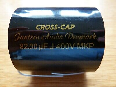 Jantzen Capacitors 400V MKP, 2 x 68uF, 2 x 80uF, 2x100uF, less than 5 hrs use.