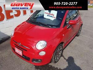 2016 Fiat 500 Sport BLUETOOTH, MP3 INPUT, ALLOY WHEELS