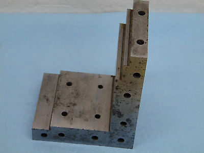 Watchmaker Angle Plate Machinist Toolmaker Hardened Grind Fixture Tapped