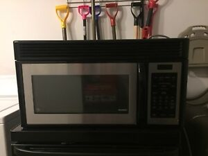 GE Stainless Built-In Overhead Microwave/Vent Hood