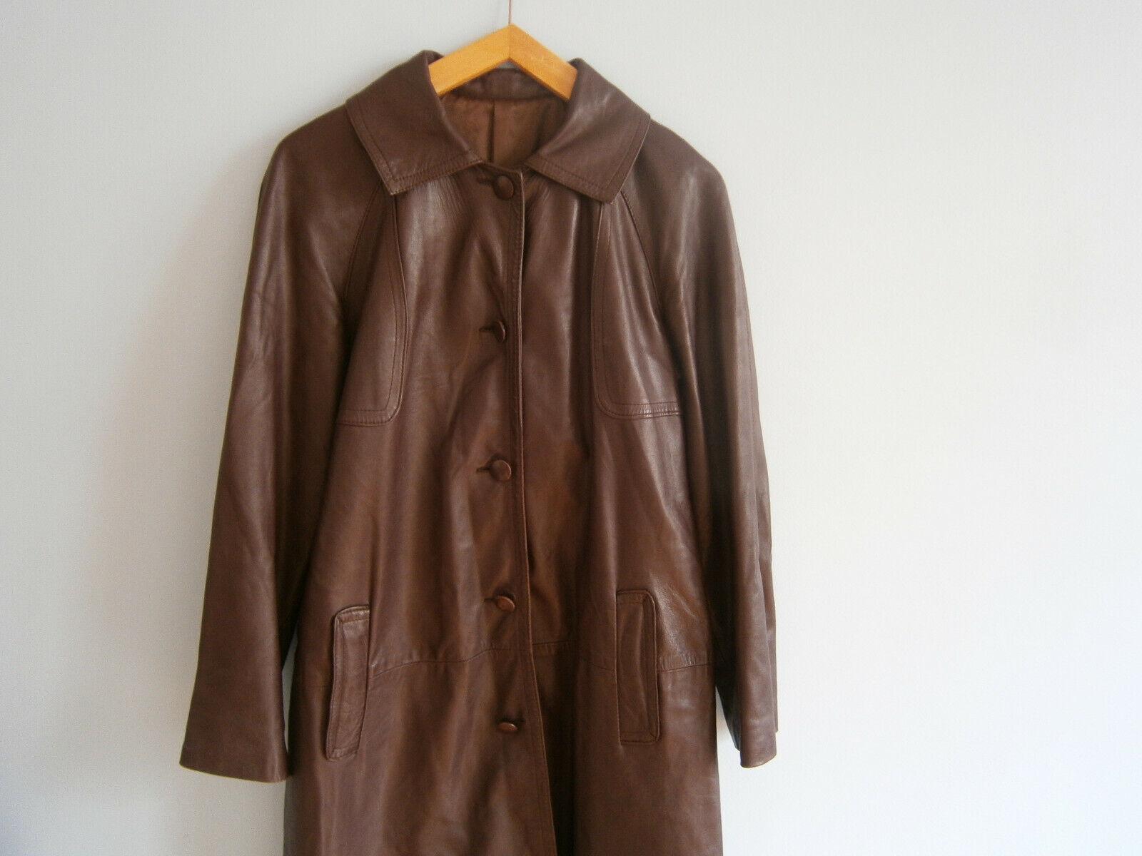 Manteau cuir nappa 38 sublime style celine phoebe philo