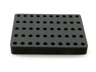 Vial 2ml Organizer Storage Rack Foam Stand 12mm Diameter Holder 50 Hole