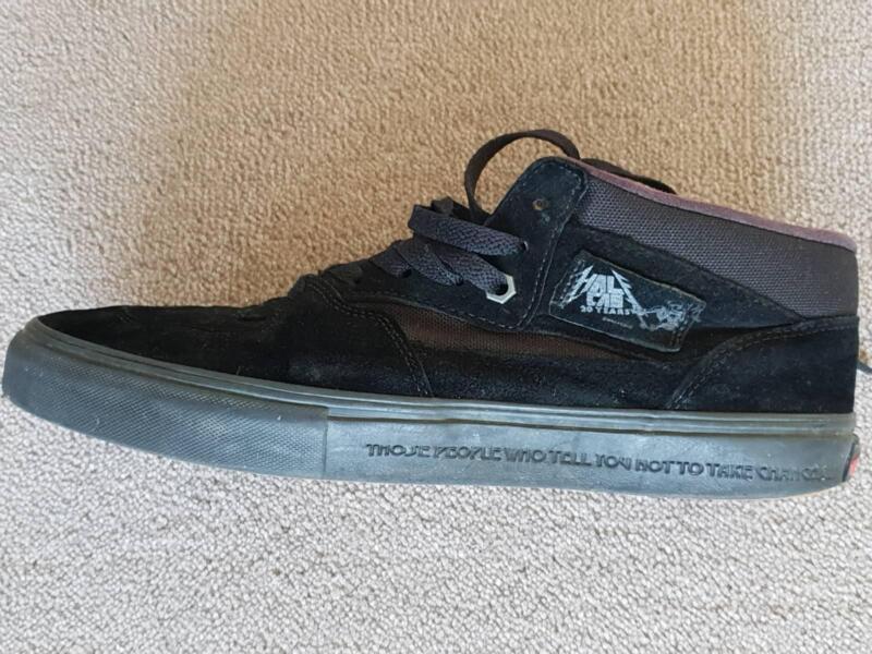 747e9f24c4 US Size 10 Limited Edition Metallica Vans Half Cab Pro Skate Shoe ...
