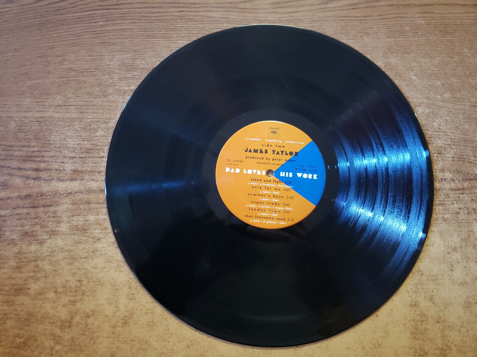 1981 MINT-EXC James Taylor, Dad Loves His Work 37009 LP33 - $9.99