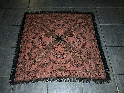 OLD VINTAGE 1950s PAISLEY COVER THROW