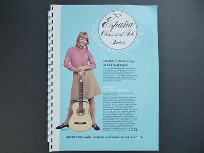 Vintage ESPANA GUITARS Catalog -1970's