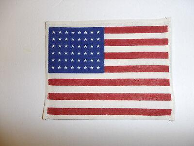 "Army 48 Star Combat Jacket Flag Original WW2 English Made U.S 7/'/' by 4-3//4/"""