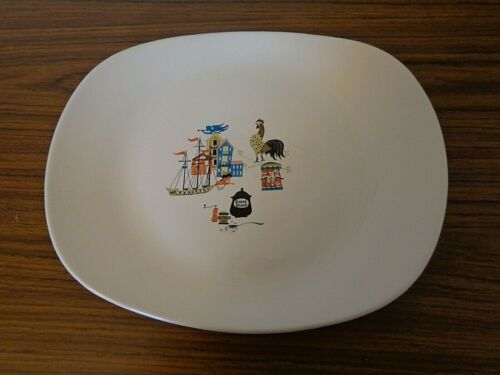 Vintage Salem China Old Gloucester Large Serving Platter, Pat Prichard 1950