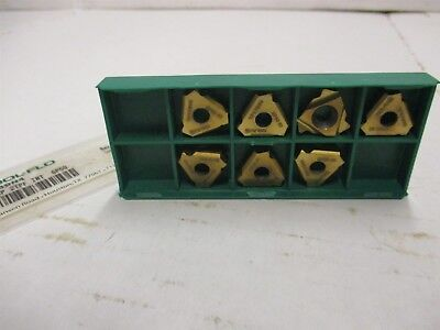 Tool-flo 22nr 4.5p 2tpf Int Carbide Inserts Tf17969n4 Made In Usa Lot Of 7 Pcs.