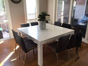 Gloss White Dining table and sideboard/buffet Hamilton South Newcastle Area Preview