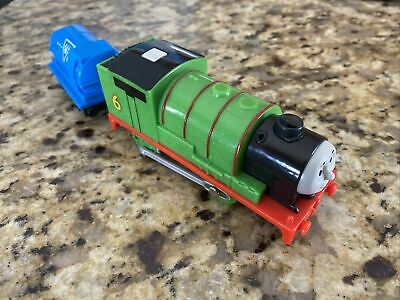 """TOMY TRACKMASTER THOMAS & FRIENDS """" REAL STEAM PERCY """" MOTORIZED WORKING 2014"""