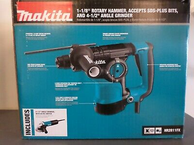 New Makita Hr2811fx 1-18 Sds-plus Rotary Hammer W 4-12 Angle Grinder