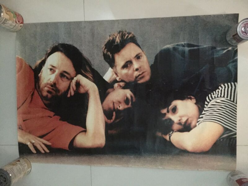 "NEW ORDER poster original Rare  33"" X 22"" Peter Hook after joy division"