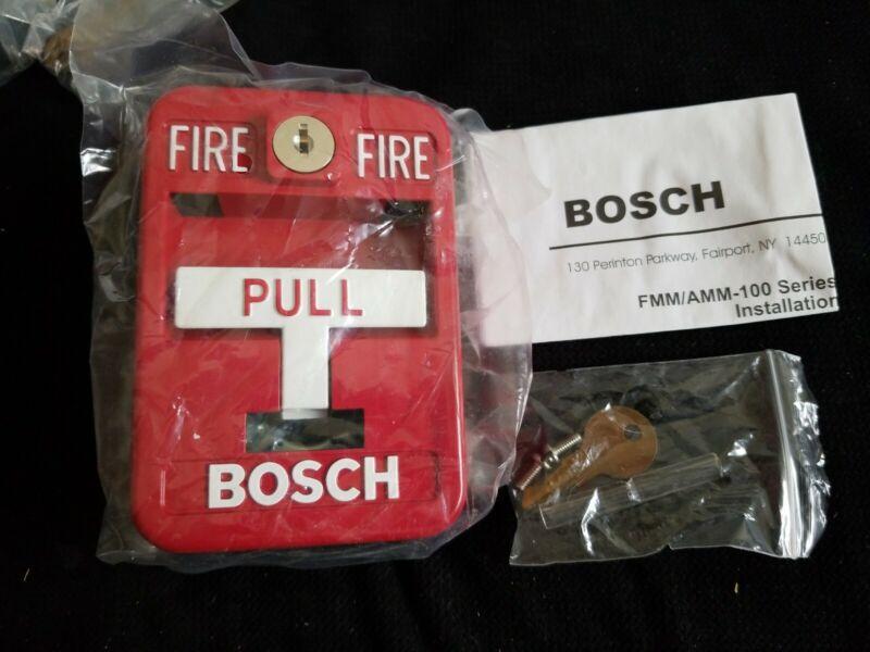 NEW Bosch FMM-100SATK Red Single Action Key-Lock Manual Fire Alarm Pull Station
