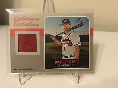2019 Topps Heritage Clubhouse Collection Josh Donaldson Red Jersey Game Used