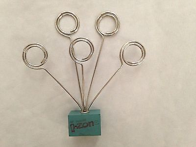 Silvertone 5 Metal Paper Clip Document Holder With Five Clips