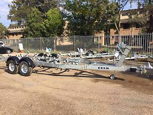 23' 4TONNE AUSSIE STEEL TRAILER, HOT DIPPED GALV, SUIT 7.1M BOAT Warners Bay Lake Macquarie Area Preview