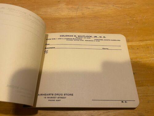 Vintage Prescription Pad – Collector's Item – Coleman M. Whitlock Jr. M.D.