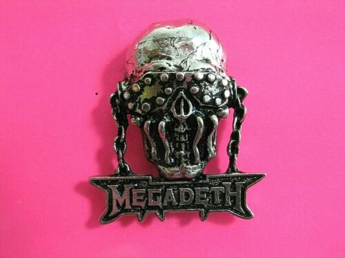 MEGADETH OFFICIAL 1991 VINTAGE PIN BUTTON BADGE VIC STARLINE