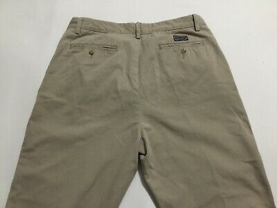 Nautica Chino Pants Khaki 35x25 35 x 25 Classic Fit Tan Beige Men's