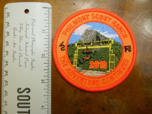 PHILMONT 2019 ADVENTURE CONTINUES PATCH (NEW WITH TAGS)