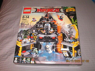 U.S. BIDS ONLY RETIRED LEGO NINJAGO MOVIE GARMADON'S VOLCANO LAIR SET 70631 MISB