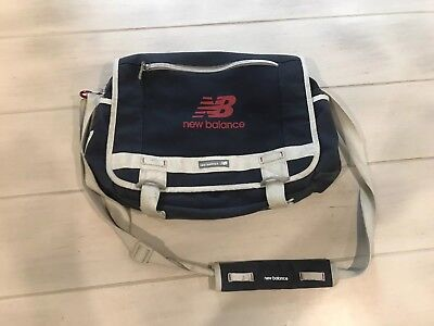 Vintage New Balance Laptop Bag 574 Navy Blue Red Grey Gym Carrying Bag VTG